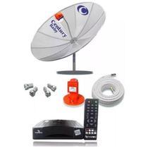Kit Antena Parabólica Century Completa + Receptor + Lnbf + Cabo -
