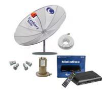 Kit Antena Parabólica Digital Completa Century + Midia -