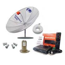 Kit Antena Parabólica Digital Completa Century + Midiabox -