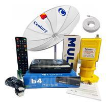 Kit Antena Parabólica Tela 1,70 + Midiabox B4 Lnbf Multipont - Century