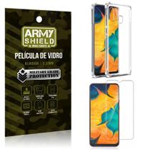 Kit Anti Impacto Galaxy A30 Capinha Anti Impacto + Película de Vidro - Armyshield -