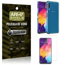 Kit Anti Impacto Galaxy A50 Capinha Anti Impacto + Película de Vidro - Armyshield -
