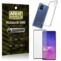 Kit Anti Impacto Galaxy S10 Lite Capinha Anti Impacto + Película de Vidro 3D - Armyshield -