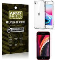 Kit Anti Impacto iPhone SE 2020 Capinha Anti Impacto + Película de Vidro - Armyshield -