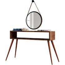 Kit Aparador Decorativo Para Sala de Estar Lara Deck com Espelho Adnet 67 cm Nix - Lyam Decor -