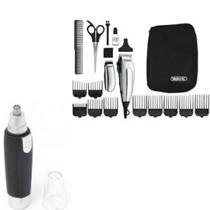 Kit aparador elétrico Deluxe Home barba  e aparador nasal 110V - Winner