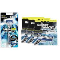 Kit Aparelho + 3 Cargas Gillette Mach3 Turbo -