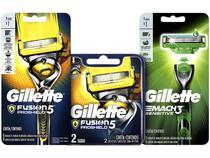 Kit Aparelho de Barbear Gillette Fusion Proshield - 2 Un + Lâmina de Barbear + Aparelho de Barbear