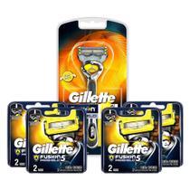 Kit Aparelho de Barbear Gillette Fusion Proshield + 4 Cargas Gillette Aparelho de Barbear Fusion Proshield c/2 -