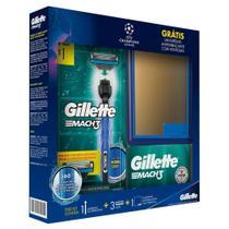 Kit Aparelho de Barbear Gillette Mach 3 Acqua Grip e 3 Cargas Mach 3 e Ganhe 1 Espelho -