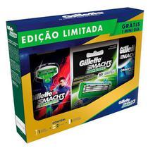 Kit Aparelho De Barbear Gillette Mach3 + 2 Cargas + Mini Gel -