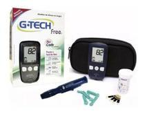 Kit Aparelho De Glicemia G.tech Free Completo 110 Tiras - G-Tech
