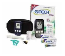 Kit Aparelho De Glicemia Gtech Free No Cod 100 Tiras para Medição - G-Tech