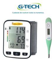 Kit Aparelho De Medir Pressão Digital De Pulso BSP 21 + Termometro - G-TECH