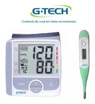 Kit Aparelho De Medir Pressão Digital De Pulso GP 300 + Termometro - G-Tech