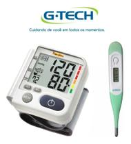 Kit Aparelho De Medir Pressão Digital De Pulso LP 200 + Termometro - G-Tech