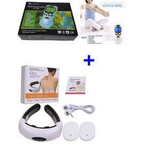 Kit Aparelho De Pescoço Relaxa Os Músculos Fisioterapia + Aparelho Massageador Eletroestimulador - Aparelho Fisioterapia Acupuntura Tens E Fes P