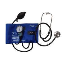 Kit Aparelho de Pressão Arterial c/ Fecho em Metal e Estetoscópio - NTL Pressure -