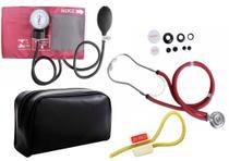 Kit Aparelho de Pressão com Estetoscópio Rappaport Premium - Vinho -