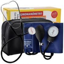 Kit Aparelho de pressão com Estetoscópio Simples Premium -