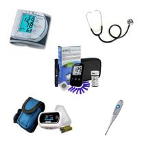 Kit Aparelho De Pressão Oximetro Glicose Termometro Esteto duplo - Microlife