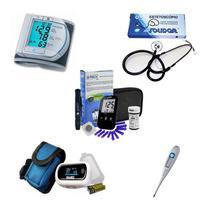 Kit Aparelho De Pressão Oximetro Glicose Termometro Esteto simples - Microlife
