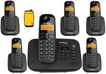 Kit Aparelho de Telefone Fixo de Mesa sem fio Bina e 5 Ramal - Intelbras