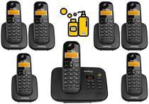 Kit Aparelho de Telefone Fixo de Mesa sem fio Bina e 6 Ramal - Intelbras