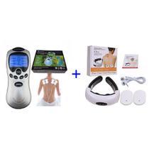 Kit Aparelho Fisioterapia Acupuntura Tens + Aparelho Massageador De Pescoço Relaxa - Aparelho Fisioterapia Acupuntura Tens E Fes P