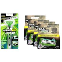 Kit Aparelho Gillette Mach3 Sensitive + 16 Cargas Mach3 Sensitive