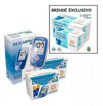 Kit Aparelho Glicemia Medir Glicose 200 Tiras 200 Lancetas - Descarpack