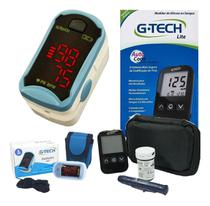 Kit Aparelho Glicose Medidor Glicemia + Oximetro G Tech - Gtech