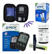 Kit Aparelho Medidor De Glicose Glicemia Com 60 Tiras - Gtech