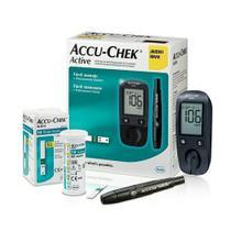 Kit Aparelho Monitor De Glicemia Accu-Chek Active - Roche