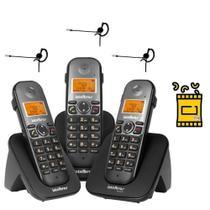 Kit Aparelho Telefone 2 ramais TS 5123 Bina 3 Fone Intelbras -