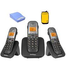 Kit Aparelho Telefone Fixo Bina com 2 ramal e entrada chip - Intelbras