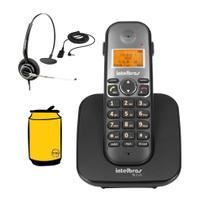 Kit Aparelho Telefone Fixo Sem Fio Bina e Headset Intelbras -