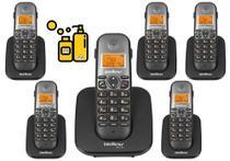 Kit Aparelho Telefone Fixo sem fio de mesa Com 5 Ramal Bina - Intelbras