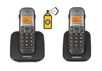 Kit Aparelho Telefone Fixo sem fio de mesa Com Ramal e Bina - Intelbras