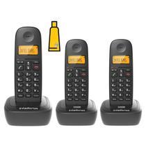 Kit Aparelho Telefone Fixo Sem Fio Digital 2 Ramal Intelbras -