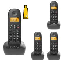 Kit Aparelho Telefone Fixo Sem Fio Digital 3 Ramal Intelbras -