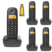 Kit Aparelho Telefone Fixo Sem Fio Digital 4 Ramal Intelbras -