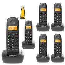 Kit Aparelho Telefone Fixo Sem Fio Digital 5 Ramal Intelbras -