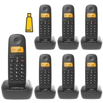 Kit Aparelho Telefone Fixo Sem Fio Digital 6 Ramal Intelbras -