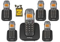 Kit Aparelho Telefone Fixo sem fio TS 5120 Com 5 Ramal Bina - Intelbras