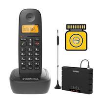 Kit Aparelho Telefone sem fio Com Entrada Chip Bina de Mesa - Intelbras