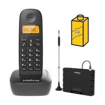 Kit Aparelho Telefone sem fio TS 2510 Entrada Chip Bina Mesa - Intelbras