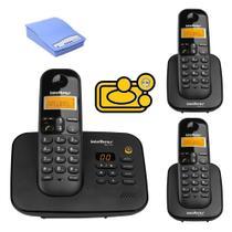 Kit aparelho Telefone TS 3130 Bina 2 Ramal Para chip Celular - Intelbras