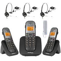 Kit Aparelho Telefone TS 5120 Bina 2 Ramal e THS55 Intelbras -