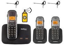 Kit Aparelho Telefone TS 5150 Bina 2 Linhas 2 Ramal Headset - Intelbras